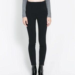 NWOT Zara Basic Black Leggings